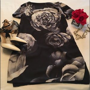 Monochrome Rose Dress by Cameo the Label